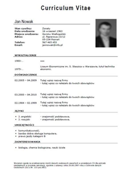 format zdjecia cv profesjonalne cv wzory przykłady porady