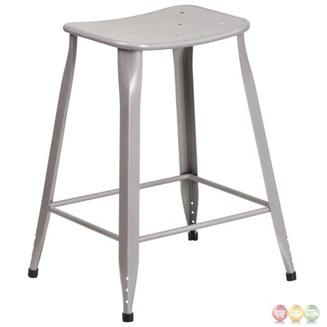 Silver Counter Height Stools by 24 High Silver Metal Indoor Outdoor Counter Height Stool