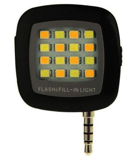 Led Selfie slick black selfie led flashlight mobile enhancements at low prices snapdeal india
