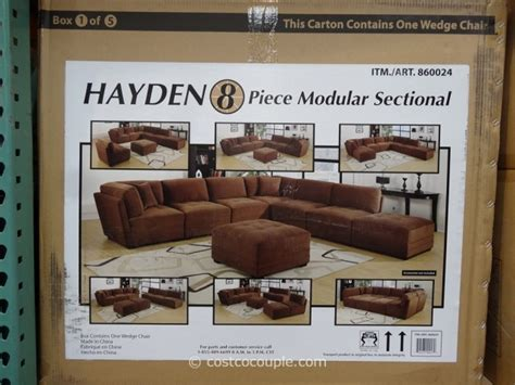 hayden 8 piece modular sectional marks and cohen hayden 8 piece modular fabric sectional