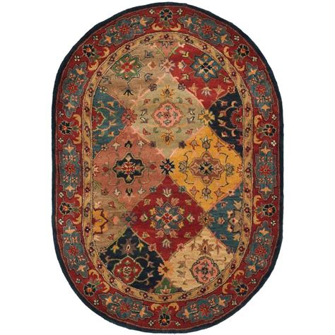 safavieh heritage accent rug in red multi hg926a 2 safavieh heritage red multi 7 ft 6 in x 9 ft 6 in oval