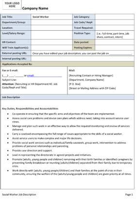 job descriptions small business  forms