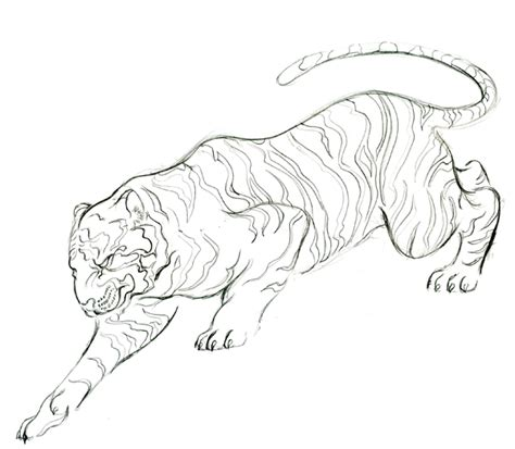 siberian tiger tattoo coloring pages