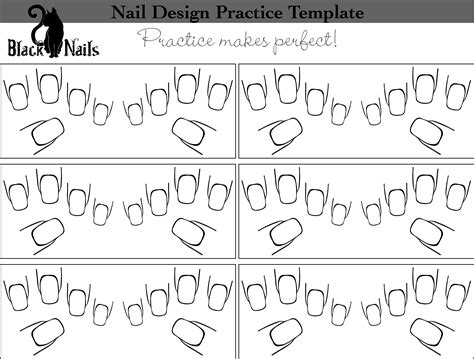 nail templates nail design practice sheet versions