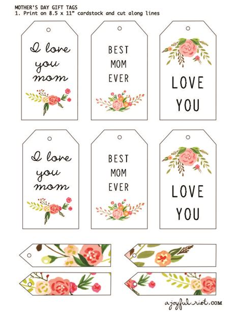 free printable gift tags mothers day mother s day gift tags free printable friday a joyful riot