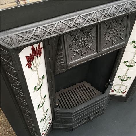 floral canopy fireplace insert from