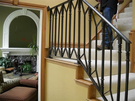 interior railings home depot stairs awesome wrought iron railings cost cost of wrought