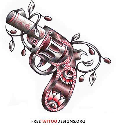 cross tattoo gang symbol revolver tattoo drawing gang tattoos symbols prison
