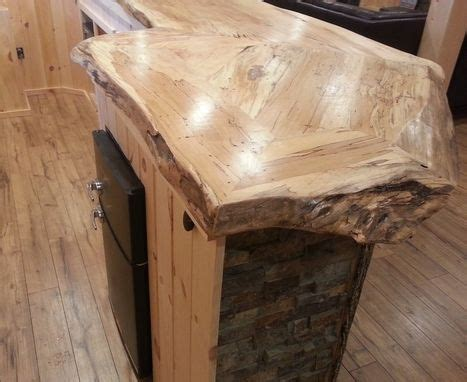 handmade  edge spalted maple bar counter  ds