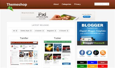 blogger online shop theme shop blogger template