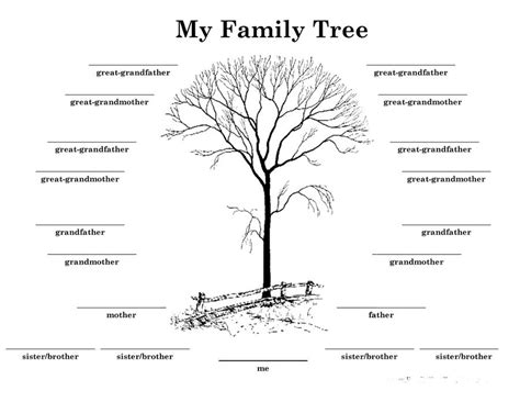 family tree printable templates 40 free family tree templates word excel pdf