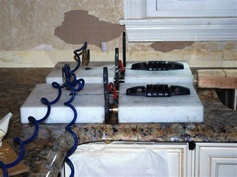 How Are Granite Countertops Attached by How To Install A Granite Kitchen Countertop How Tos Diy