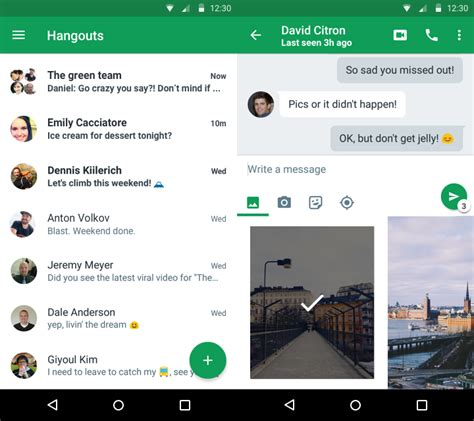 peak design google hangout google hangouts for android updated with material design