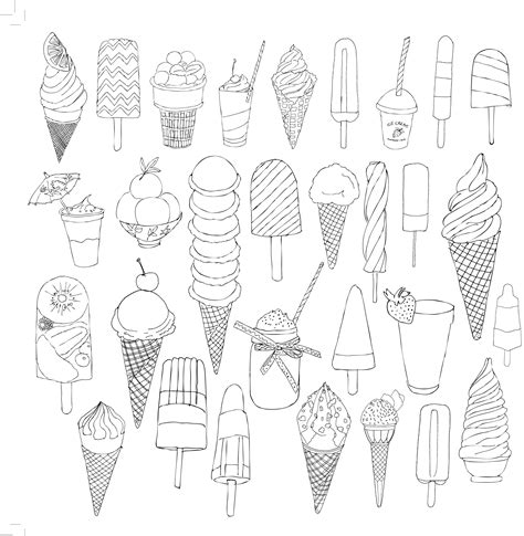 ice cream coloring pages for adults glaces ice cream coloriage adulte anti stress paris