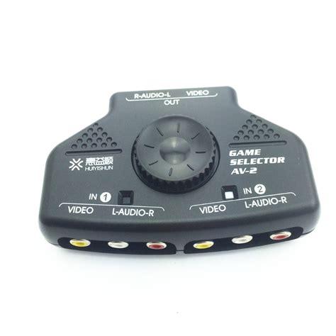 Promo Promo Promo 3 Way Av Switcher Selector Multi Av Switch Merk Suoe 1pcs 2 way splitter av rca audio switch selector box w 3 rca cable for xbox ps2 50702 av