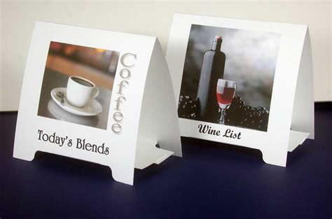 Tent Cards Printing In Delhi Table Tent Printing