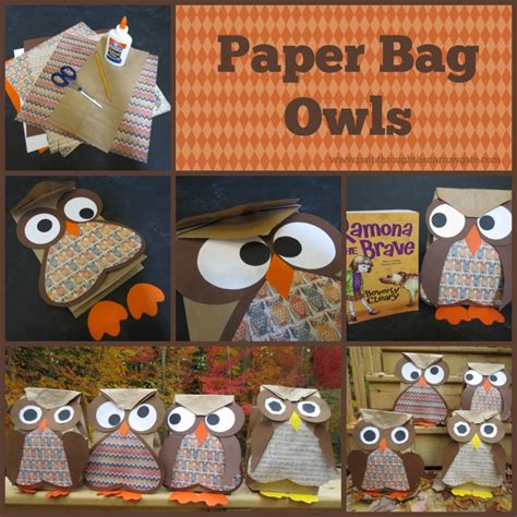Paper Bag Crafts For Adults - paper bag owls