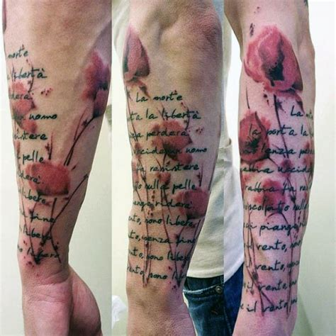 poppy tattoos for men 75 poppy designs for remembrance flower ink