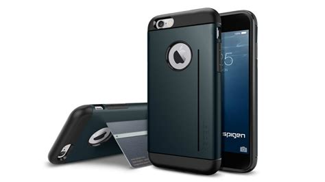 Spigen Slim Iphone 6 review iphone 6 spigen 174 kick stand slim armor doovi