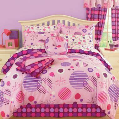 jcpenney girls bedding jcp home rebound polka dots complete bedding set with