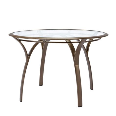 brown pasadena 42 dining table with glass top