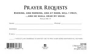 Prayer Request Cards Template Gallery For Gt Prayer Request Card Template