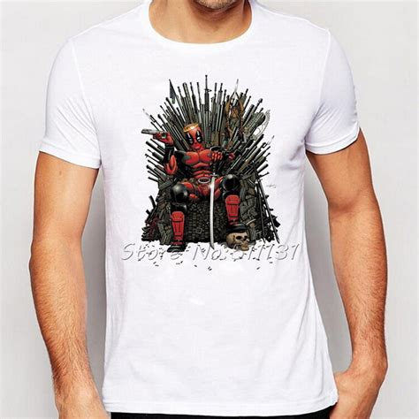 Shirts Design 2016 2016 Newest Cool Deadpool On The Iron Throne T Shirt