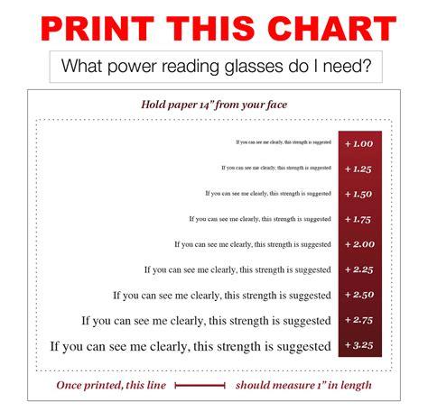 printable eye reading chart on demand prescription eyeglasses