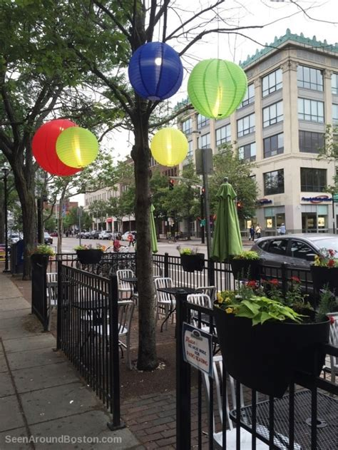 lanterns   sidewalk cafe  cambridge   boston