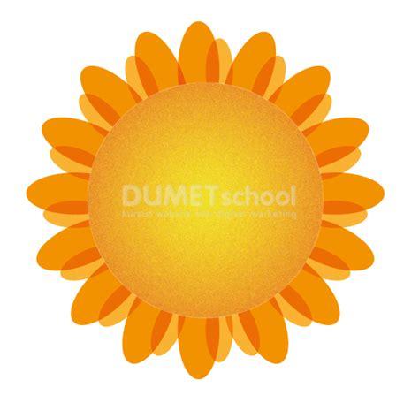 membuat kolase bunga matahari cara membuat bunga matahari sederhana kursus desain grafis