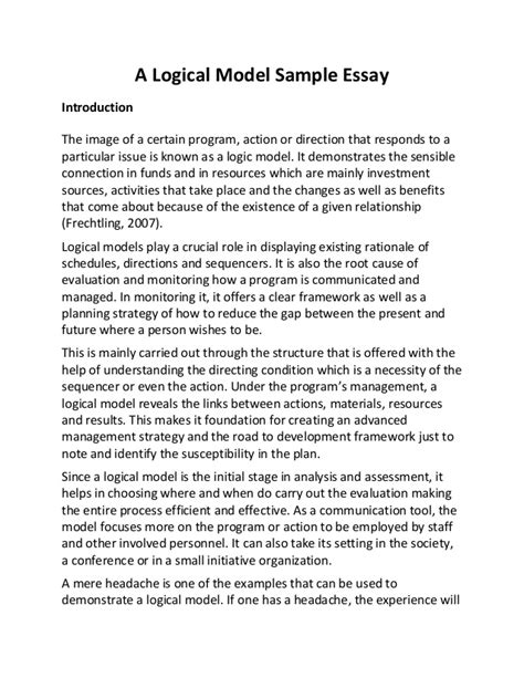 how to write a deductive essay a logical model sle essay