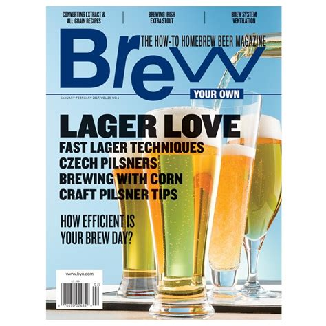 byo magazine jan feb 2017 brewshop home brew supplies