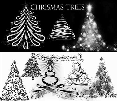 45 sets of wonderful photoshop christmas brushes
