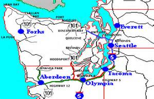 seattle washington to the park 3 routes highway 101