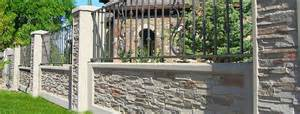Retaining Wall Front Yard - iron accents stonetree concrete fence wall systems