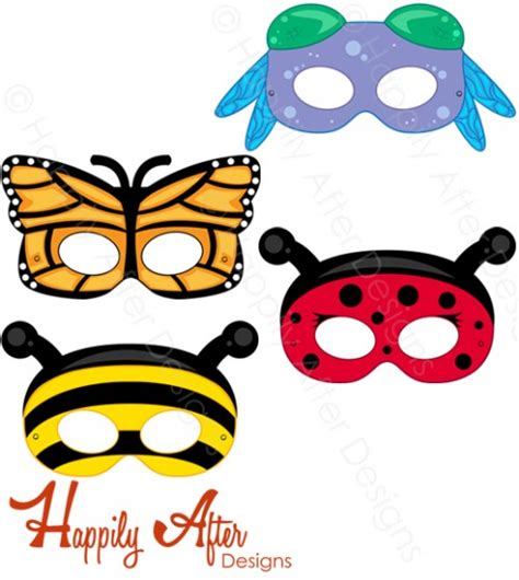 free coloring pages of insect masks