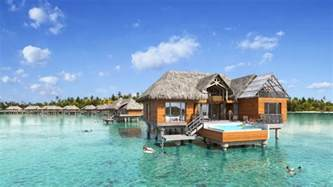 water bungalows brando bora bora overwater bungalows polynesian