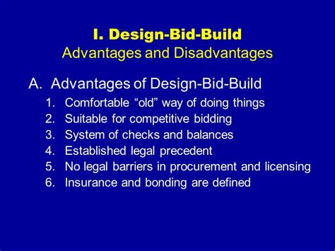 design and build contract advantages an introduction to design build ppt video online download