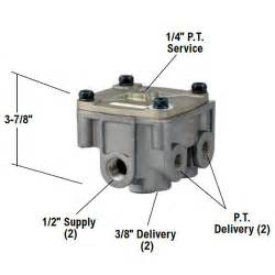 Service Trailer Brake System Relay Bendix 065303 R 12 Relay Valve 2 Horizontal 2 Vertical