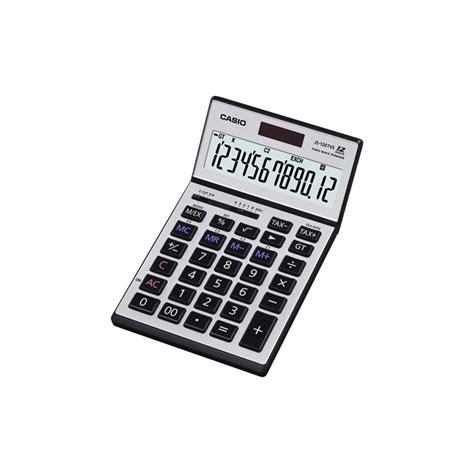 casio js 120tvs sr calculator 12 digits display adjustable