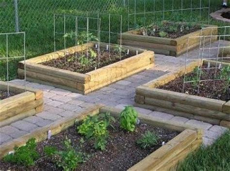Using Landscape Timbers For Raised Beds Raised Garden Bed From Landscape Timbers Ideas