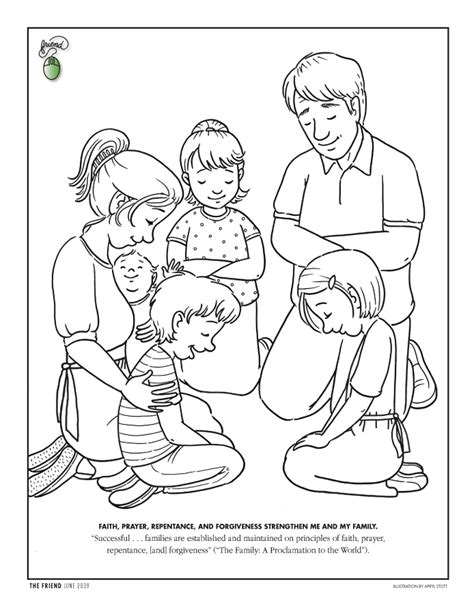 Coloring Page Friend June 2009 Friend Praying Coloring Pages