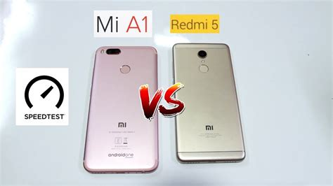 Redmi Mia1 Flaminggos by Xiaomi Redmi 5 Vs Xiaomi Mia1 Speedtest Comparison