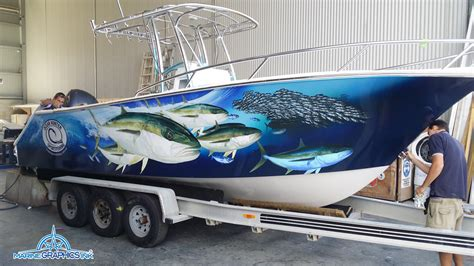 boat wraps and graphics kingie wrap