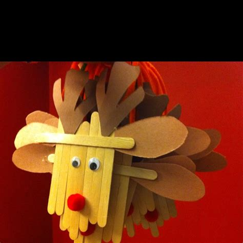 reindeer ornaments made out of popsicle sticks she s