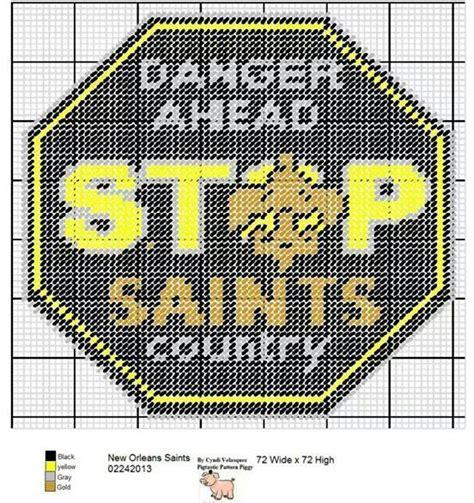 crochet pattern saints logo 17 best images about lsu saints on pinterest filet
