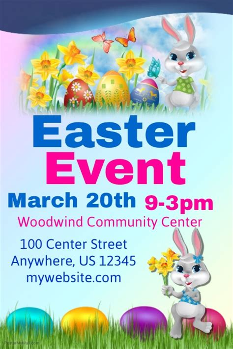 easter poster templates easter event flyer template postermywall