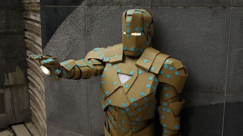 How To Make A Paper Iron Suit - build ironman vi out of makedo and cardboard paper