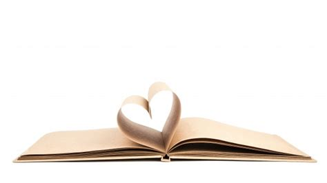 libro a heart so white book with opened pages of shape of heart isolated on white backg photo free download