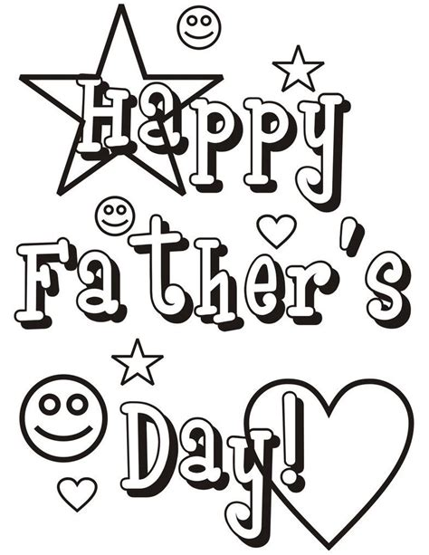 printable coloring pages for dads fathers day coloring pages fathers day pinterest